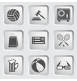Icons on the buttons for Web Design Set 1 vector image vector image