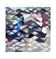 Jockey Horse Racing Abstract Low Polygon vector image vector image