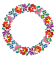 Kalocsai embroidery in circle - Hungarian pattern vector image vector image