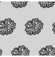 Lacy flower seamless pattern vector image