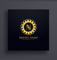 letter n premium logo concept design with golden vector image vector image