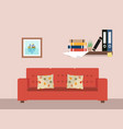 living room with furniture workspace vector image