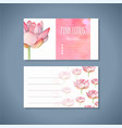 lotus yoga studio business card template vector image vector image