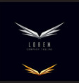 luxury wings logo design concept template vector image vector image