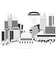 Modern city metropolis vector image vector image