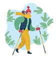 Nordic walking woman