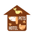 pets home icon isolated on white background vector image vector image
