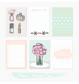 printable set journaling cards vector image vector image
