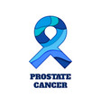 prostate cancer awareness papercut ribbon vector image vector image