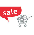 sale in the auto parts store vector image vector image