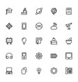 science and technology line icons 6 vector image