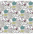 seamless pattern with cute white doves vector image vector image