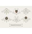 set luxury logo and monogram templates vector image