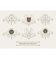 Set of luxury logo and monogram templates vector image vector image
