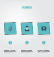 set of procuring icons flat style symbols with vector image vector image