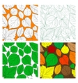 Set of seamless leaves background vector image vector image