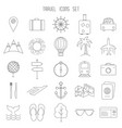 set thin line icons vector image