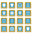 shield frames icons azure vector image vector image
