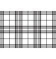 simple black white tartan seamless pattern vector image vector image