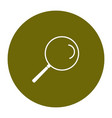simple line icon sign - search for your business vector image vector image