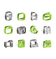 Simple Media icons vector image vector image
