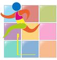 Sport icon design with hurdle vector image vector image