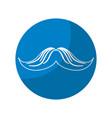 sticker man mustache and attractive fashion design