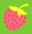 strawberry sweet fruit icons set realistic vector image vector image