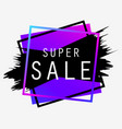 super sale background with ink painting banner vector image
