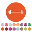 The dumbbell icon Bodybuilding symbol Flat vector image