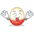 tongue out rambutan mascot cartoon style vector image vector image