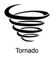 tornado icon simple style vector image vector image