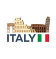 travel to italy rome skyline vector image vector image