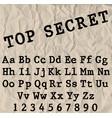 typewriter font vector image