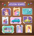 vision board vector image vector image