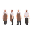 waiter professional restaurant and kitchen worker vector image vector image