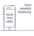 Web Banner with Phone vector image vector image