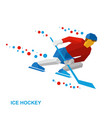 winter sports - ice hockey vector image vector image