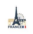 travel to france paris skyline vector image