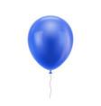 blue realistic balloon vector image