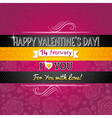 color background with valentine heart vector image