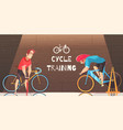cycle racing training cartoon vector image