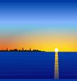 Sunset sea landscape vector image