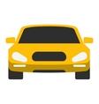 Taxi yellow car vector image