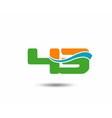 43 anniversary wave logo blue vector image vector image