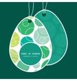 abstract green circles Easter egg shaped vector image