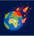 an end world vector image