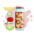 apple cucumber tomato and lime smoothie non vector image vector image