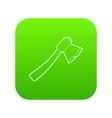axe icon green vector image