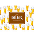 beer poster with lager beer glass template vector image vector image